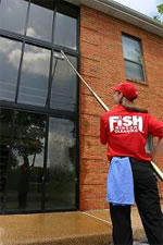 Fish Window Cleaning Employee