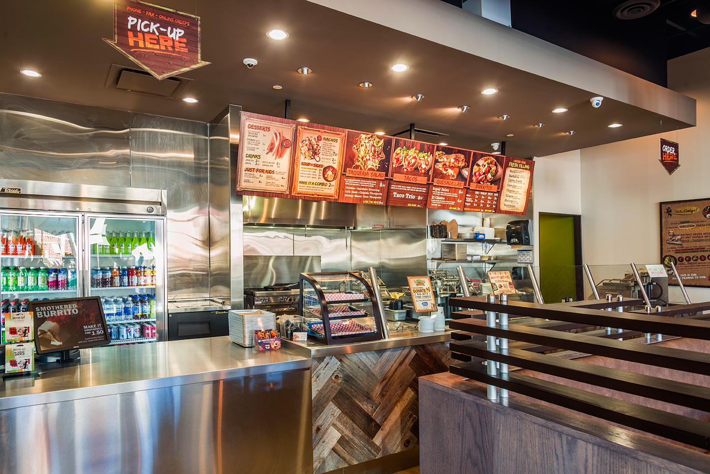 Mucho Burrito Interior