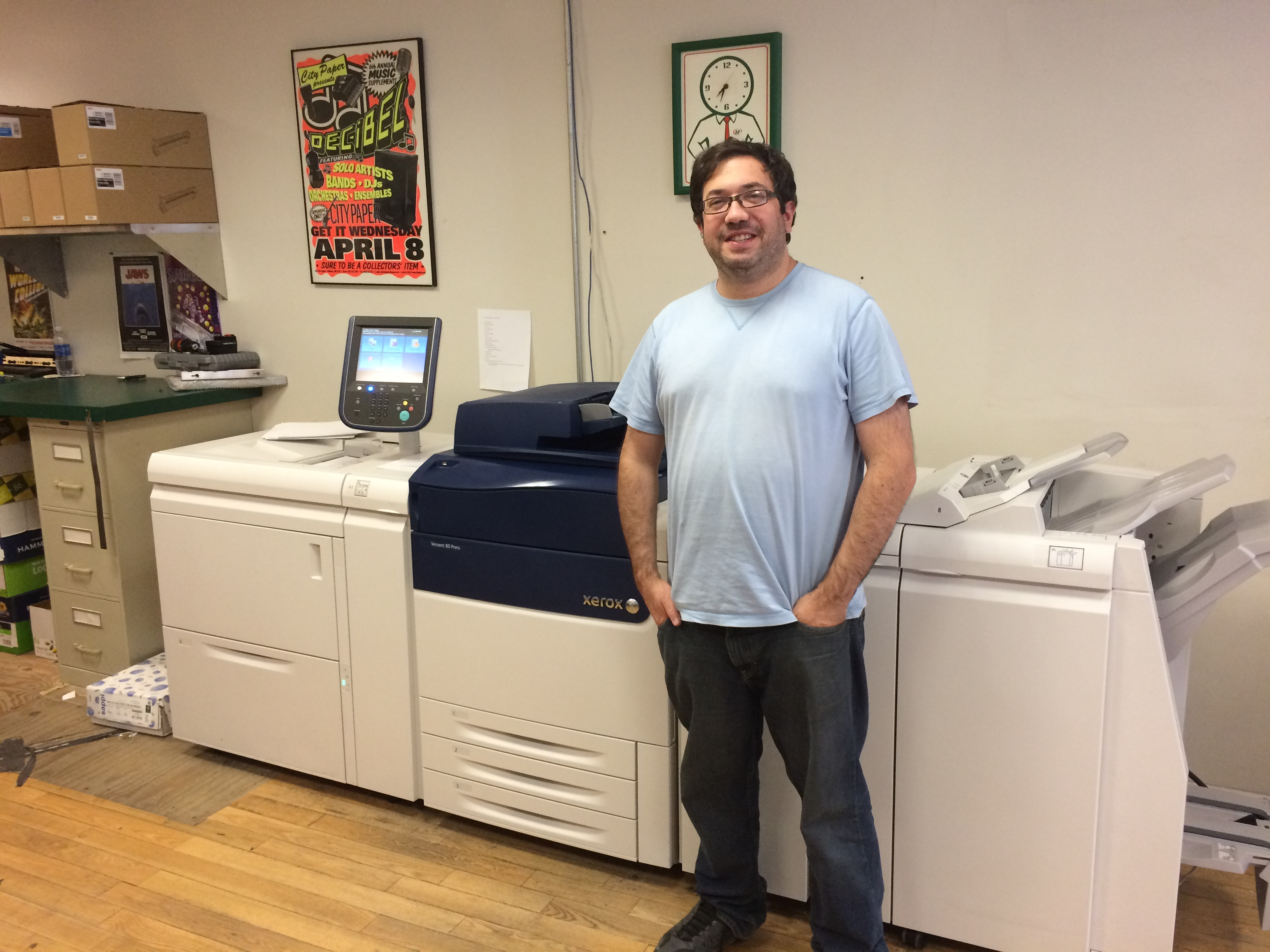 Wayne Herman's digital print, design and marketing center in Brooklyn is equipped with a state-of-the-art Xerox Versant 80 digital press.